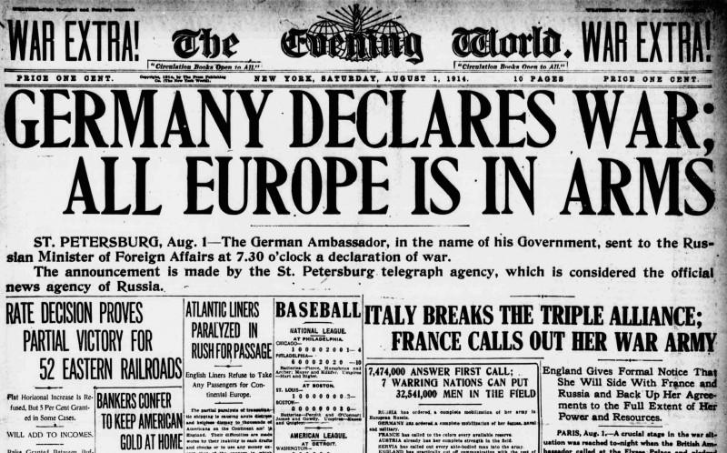 ドイツ宣戦布告